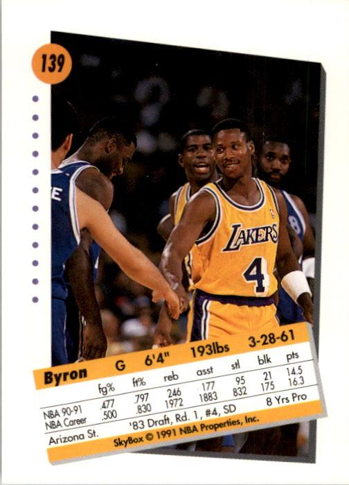 thumbnail 275 - 1991-92 SkyBox Basketball Card Pick 1-250