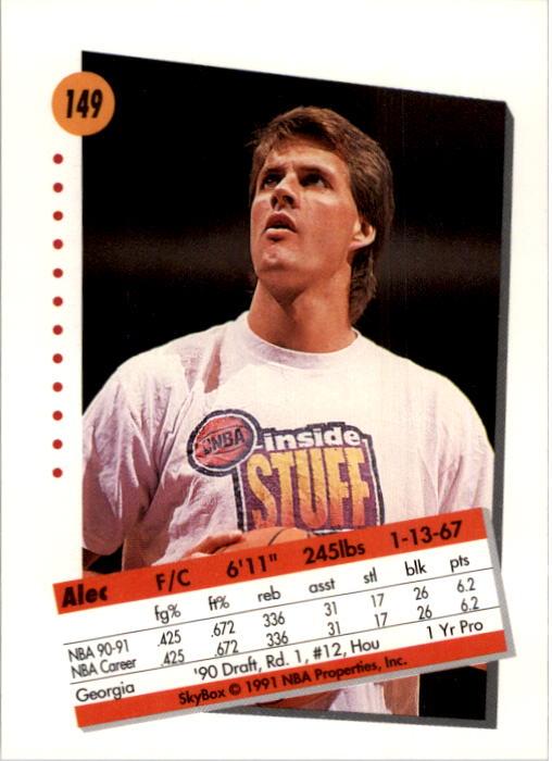 thumbnail 295 - 1991-92 SkyBox Basketball Card Pick 1-250