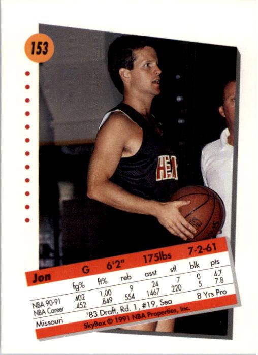 thumbnail 303 - 1991-92 SkyBox Basketball Card Pick 1-250