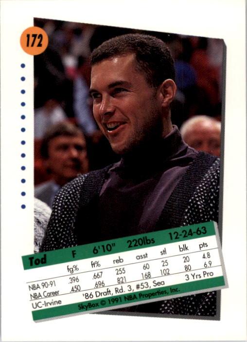thumbnail 339 - 1991-92 SkyBox Basketball Card Pick 1-250