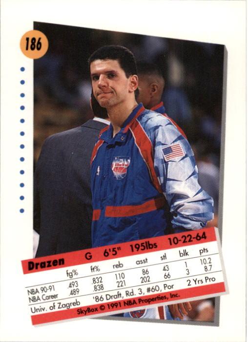 thumbnail 367 - 1991-92 SkyBox Basketball Card Pick 1-250