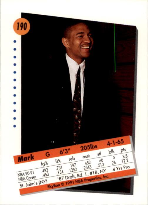 thumbnail 375 - 1991-92 SkyBox Basketball Card Pick 1-250