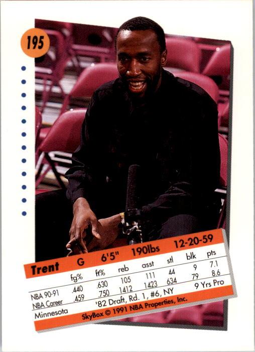 thumbnail 385 - 1991-92 SkyBox Basketball Card Pick 1-250