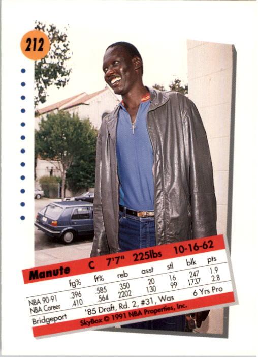 thumbnail 419 - 1991-92 SkyBox Basketball Card Pick 1-250