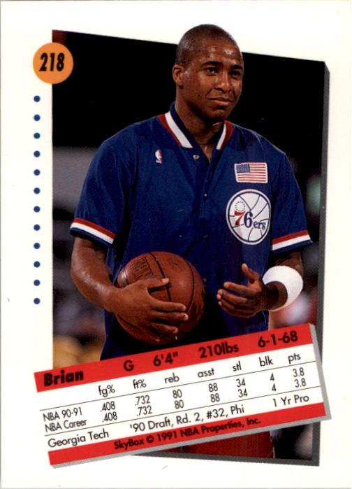thumbnail 431 - 1991-92 SkyBox Basketball Card Pick 1-250