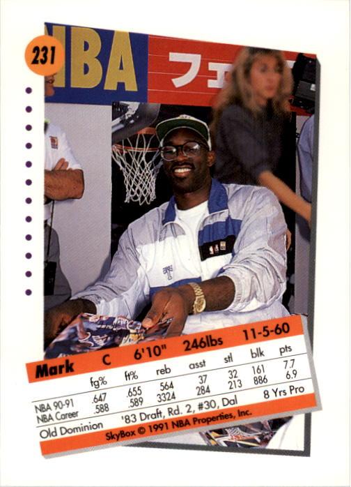 thumbnail 457 - 1991-92 SkyBox Basketball Card Pick 1-250