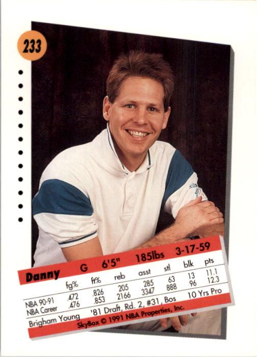 thumbnail 461 - 1991-92 SkyBox Basketball Card Pick 1-250