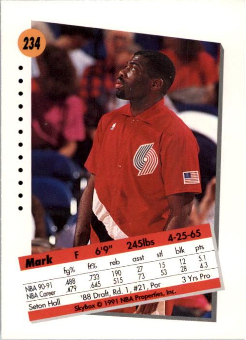 thumbnail 463 - 1991-92 SkyBox Basketball Card Pick 1-250