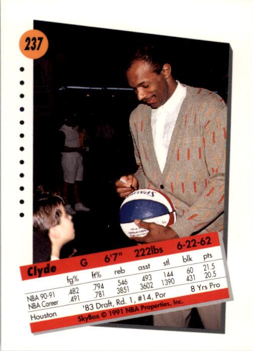 thumbnail 469 - 1991-92 SkyBox Basketball Card Pick 1-250