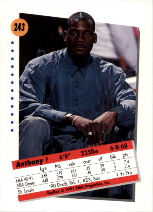 thumbnail 481 - 1991-92 SkyBox Basketball Card Pick 1-250