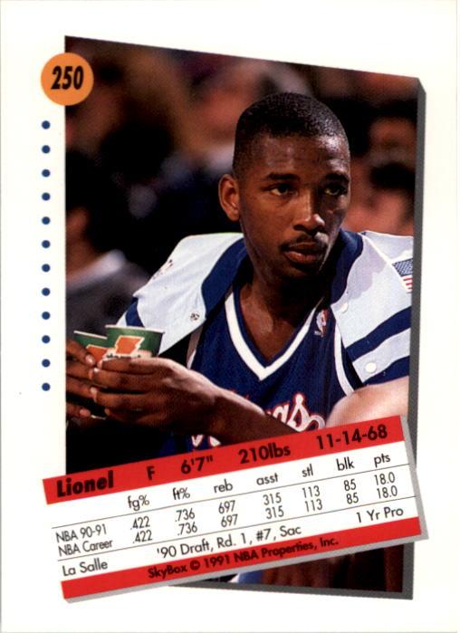 thumbnail 495 - 1991-92 SkyBox Basketball Card Pick 1-250