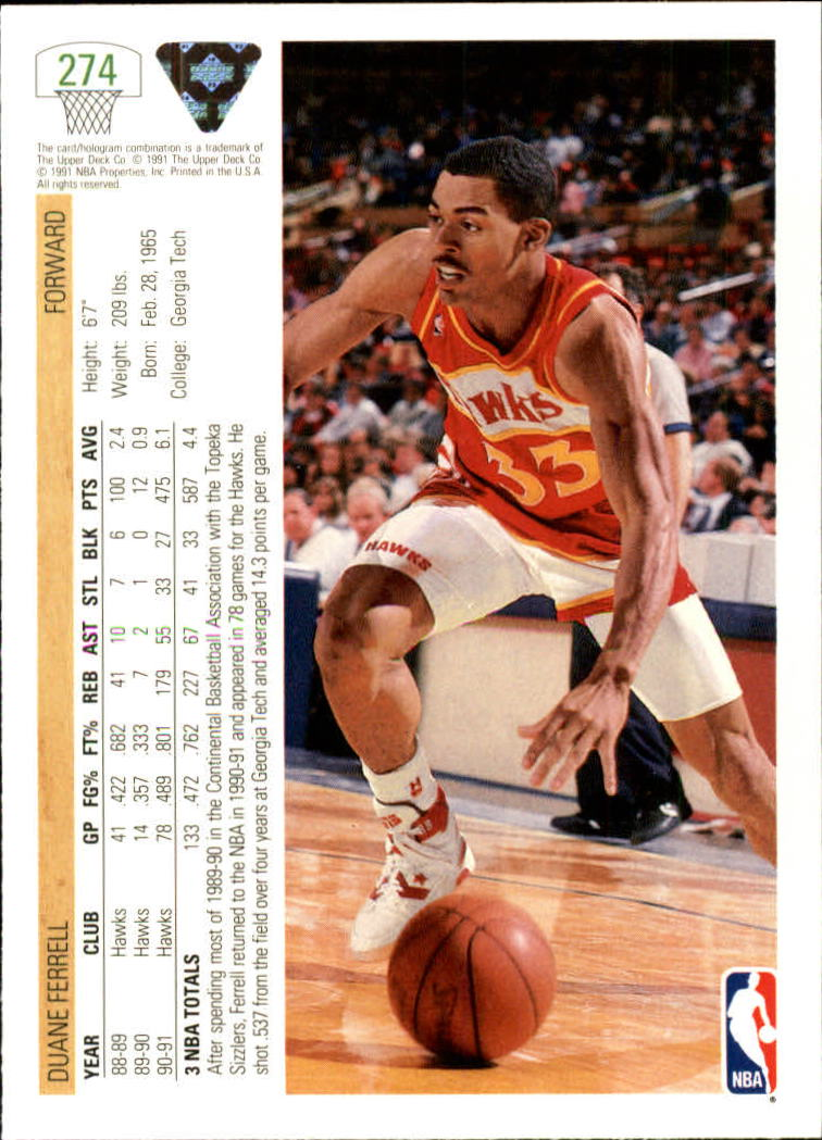 thumbnail 49 - 1991-92 Upper Deck Bk Cards 251-500 +Rookies A2500 - You Pick - 10+ FREE SHIP