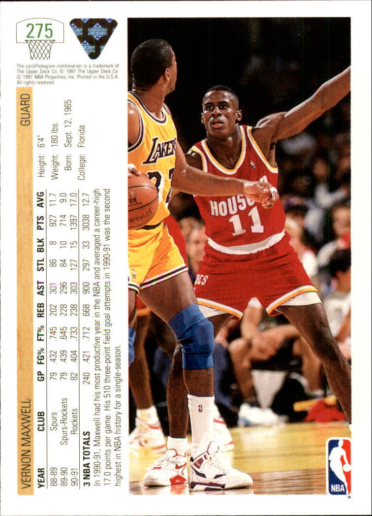thumbnail 51 - 1991-92 Upper Deck Bk Cards 251-500 +Rookies A2500 - You Pick - 10+ FREE SHIP