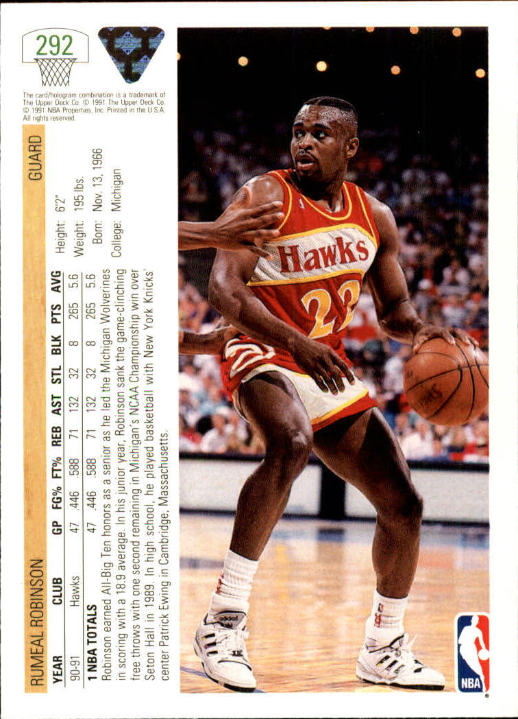 thumbnail 85 - 1991-92 Upper Deck Bk Cards 251-500 +Rookies A2500 - You Pick - 10+ FREE SHIP