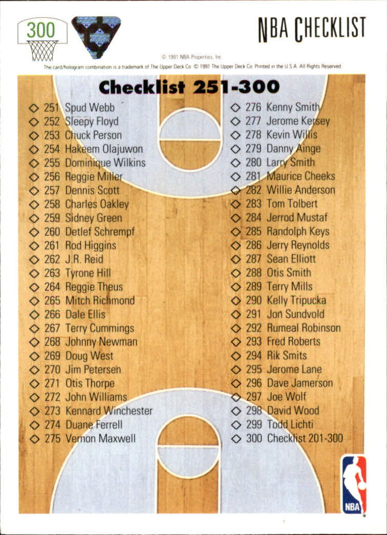 thumbnail 101 - 1991-92 Upper Deck Bk Cards 251-500 +Rookies A2500 - You Pick - 10+ FREE SHIP