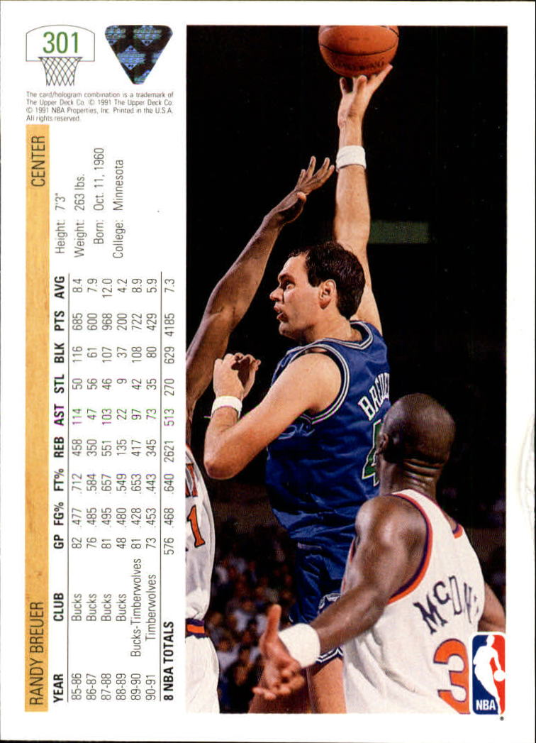 thumbnail 103 - 1991-92 Upper Deck Bk Cards 251-500 +Rookies A2500 - You Pick - 10+ FREE SHIP