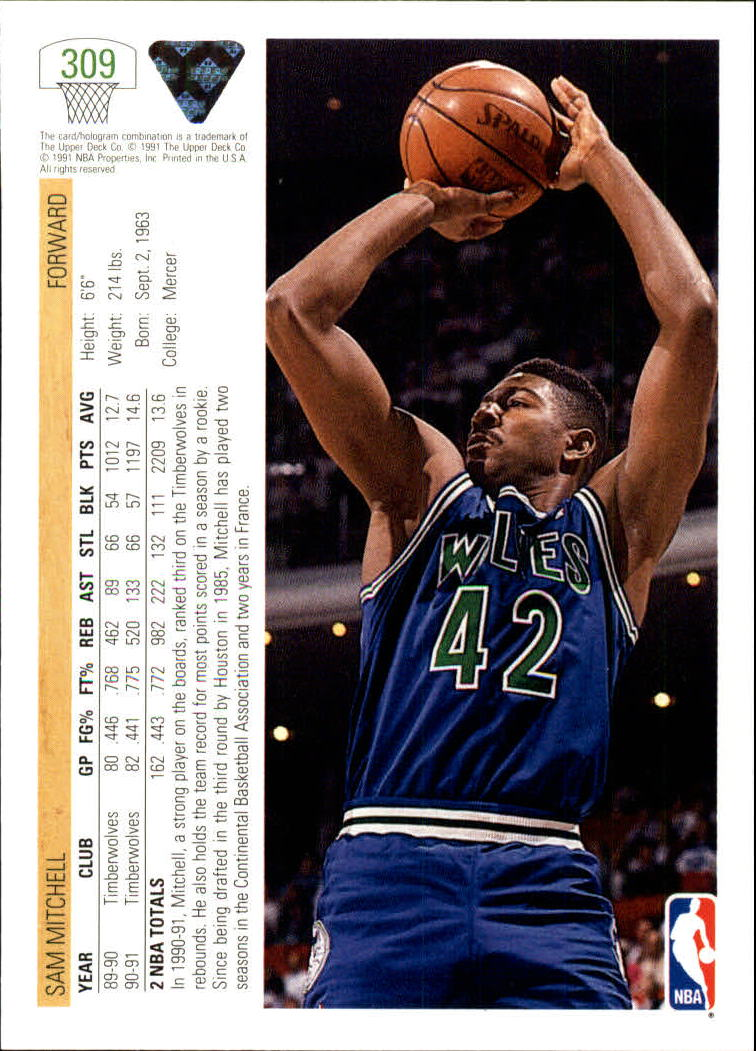 thumbnail 119 - 1991-92 Upper Deck Bk Cards 251-500 +Rookies A2500 - You Pick - 10+ FREE SHIP