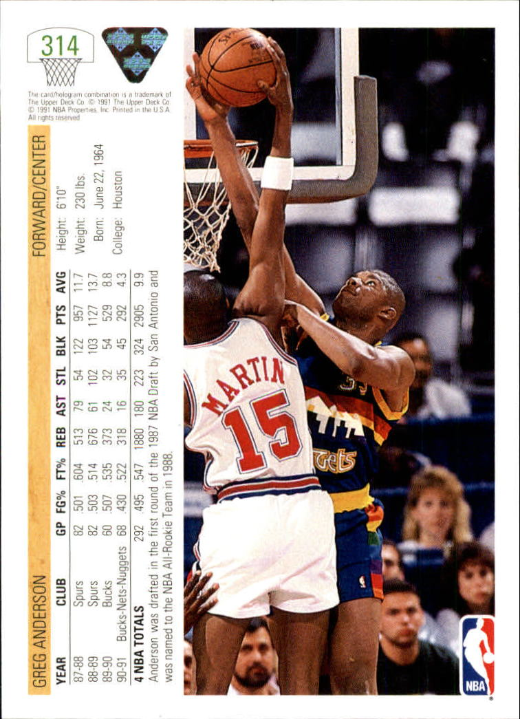 thumbnail 129 - 1991-92 Upper Deck Bk Cards 251-500 +Rookies A2500 - You Pick - 10+ FREE SHIP