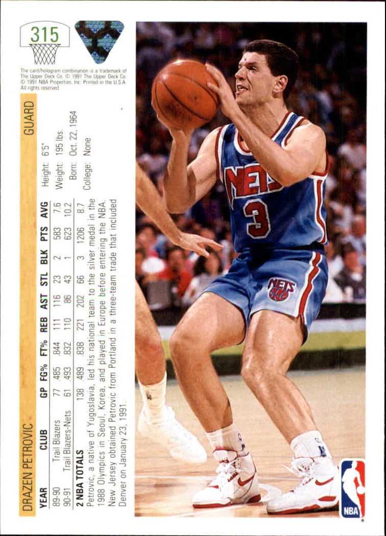 thumbnail 131 - 1991-92 Upper Deck Bk Cards 251-500 +Rookies A2500 - You Pick - 10+ FREE SHIP
