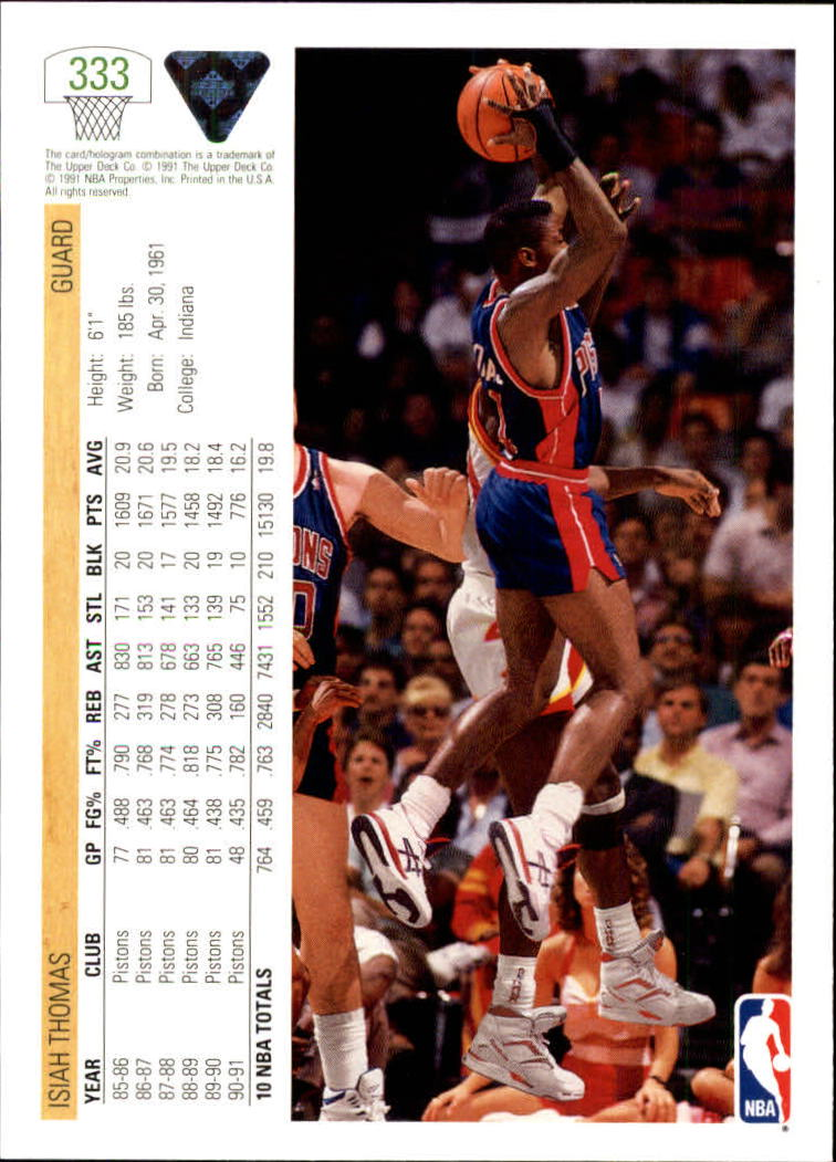 thumbnail 167 - 1991-92 Upper Deck Bk Cards 251-500 +Rookies A2500 - You Pick - 10+ FREE SHIP