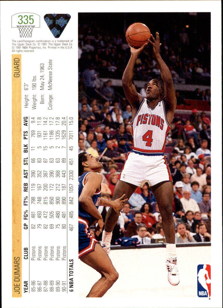thumbnail 171 - 1991-92 Upper Deck Bk Cards 251-500 +Rookies A2500 - You Pick - 10+ FREE SHIP