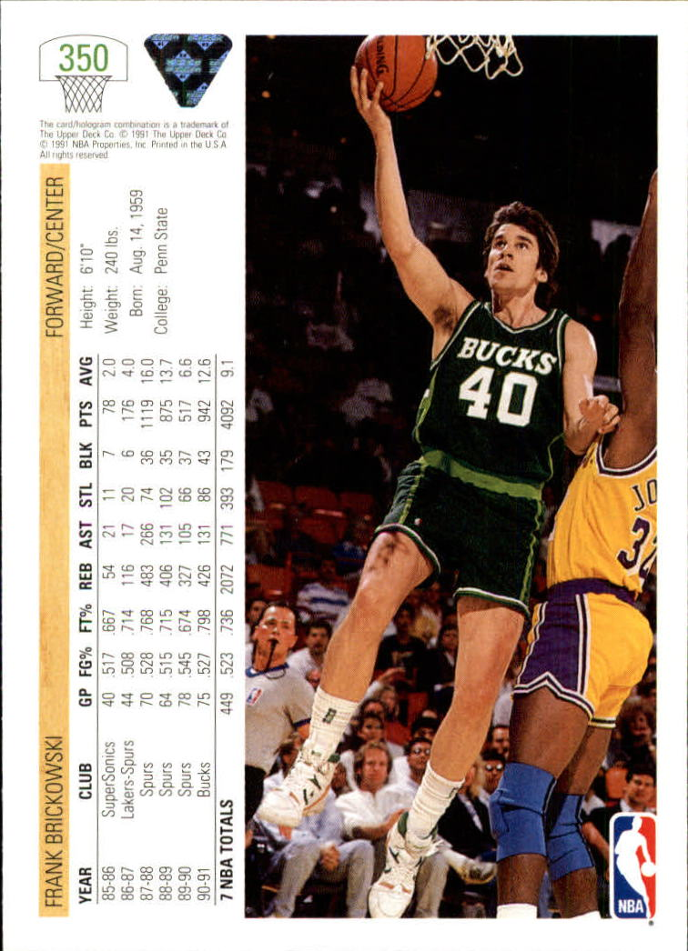 thumbnail 201 - 1991-92 Upper Deck Bk Cards 251-500 +Rookies A2500 - You Pick - 10+ FREE SHIP