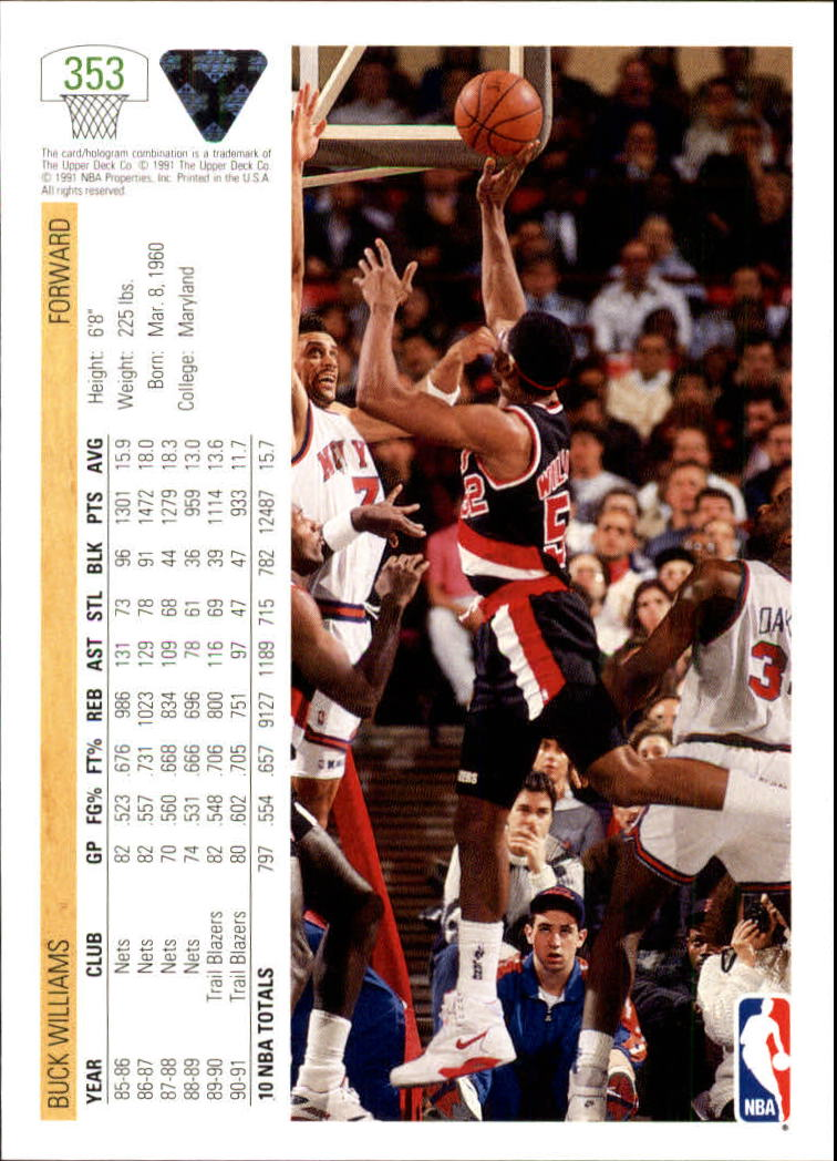 thumbnail 207 - 1991-92 Upper Deck Bk Cards 251-500 +Rookies A2500 - You Pick - 10+ FREE SHIP
