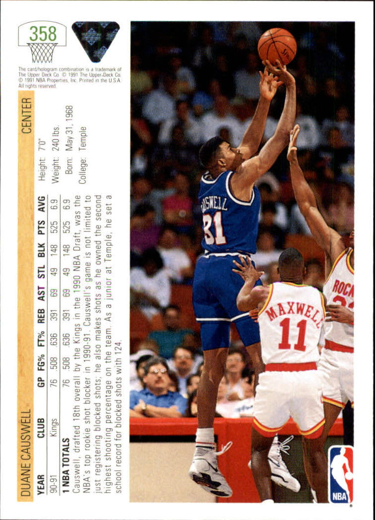 thumbnail 217 - 1991-92 Upper Deck Bk Cards 251-500 +Rookies A2500 - You Pick - 10+ FREE SHIP