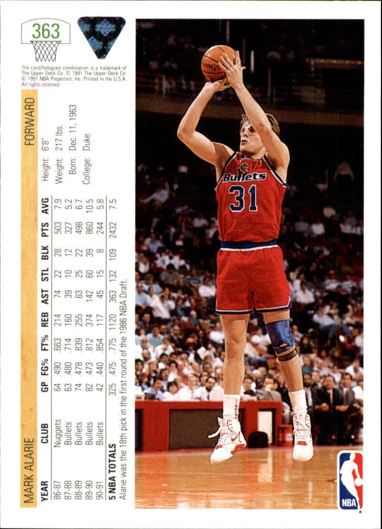 thumbnail 227 - 1991-92 Upper Deck Bk Cards 251-500 +Rookies A2500 - You Pick - 10+ FREE SHIP