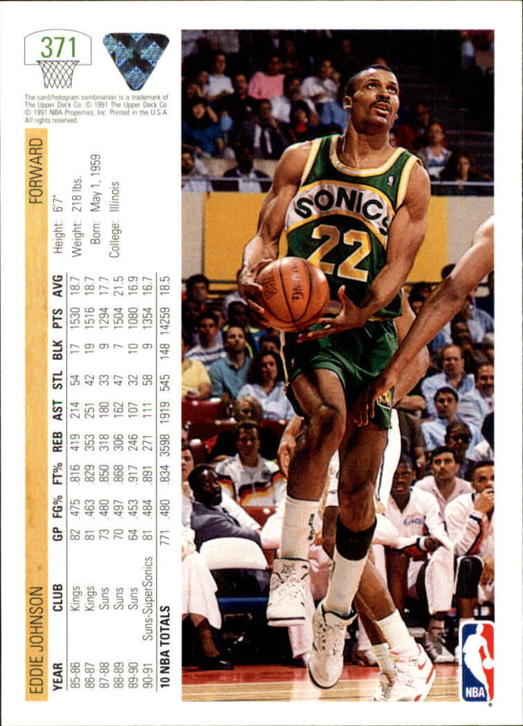 thumbnail 243 - 1991-92 Upper Deck Bk Cards 251-500 +Rookies A2500 - You Pick - 10+ FREE SHIP