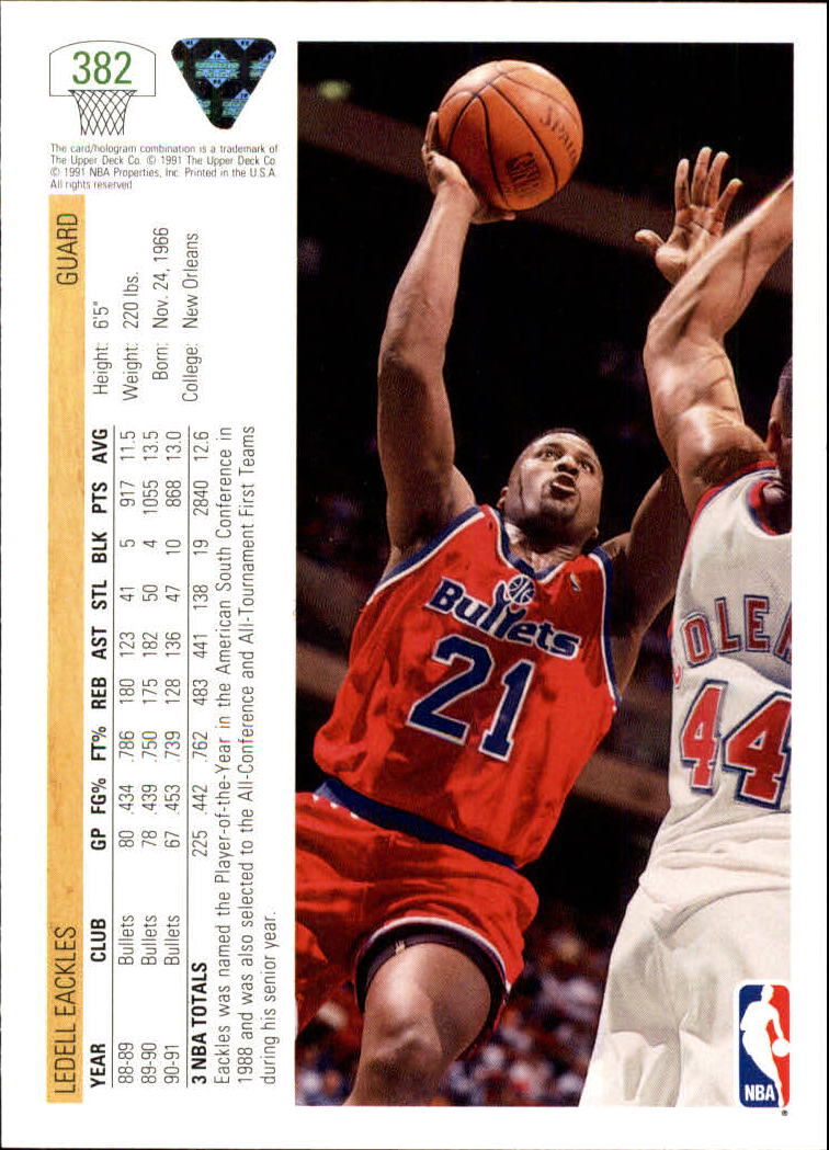 thumbnail 265 - 1991-92 Upper Deck Bk Cards 251-500 +Rookies A2500 - You Pick - 10+ FREE SHIP