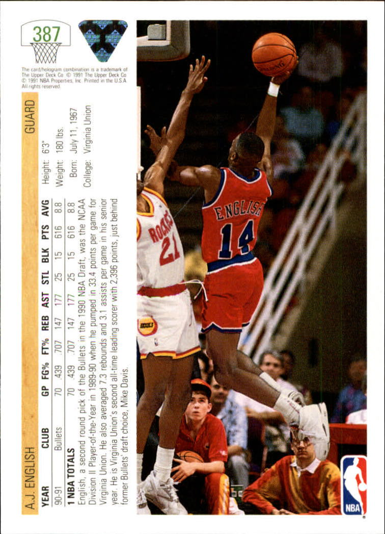 thumbnail 275 - 1991-92 Upper Deck Bk Cards 251-500 +Rookies A2500 - You Pick - 10+ FREE SHIP