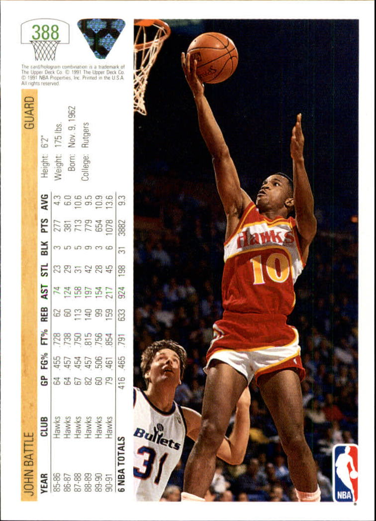 thumbnail 277 - 1991-92 Upper Deck Bk Cards 251-500 +Rookies A2500 - You Pick - 10+ FREE SHIP