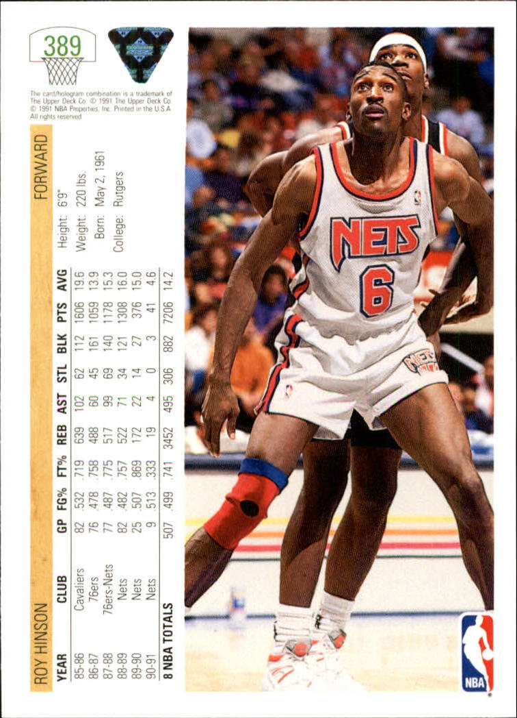 thumbnail 279 - 1991-92 Upper Deck Bk Cards 251-500 +Rookies A2500 - You Pick - 10+ FREE SHIP