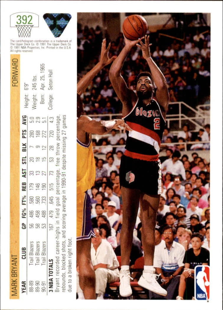 thumbnail 285 - 1991-92 Upper Deck Bk Cards 251-500 +Rookies A2500 - You Pick - 10+ FREE SHIP