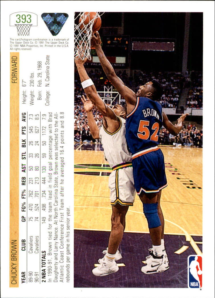 thumbnail 287 - 1991-92 Upper Deck Bk Cards 251-500 +Rookies A2500 - You Pick - 10+ FREE SHIP