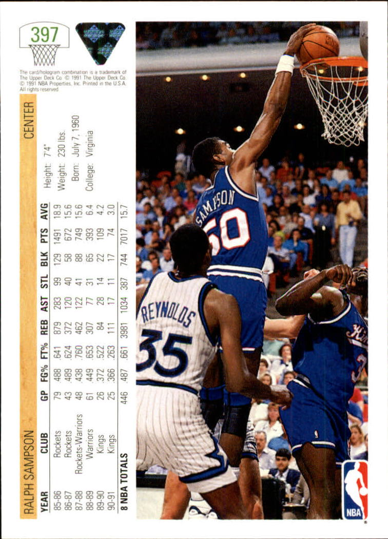 thumbnail 295 - 1991-92 Upper Deck Bk Cards 251-500 +Rookies A2500 - You Pick - 10+ FREE SHIP