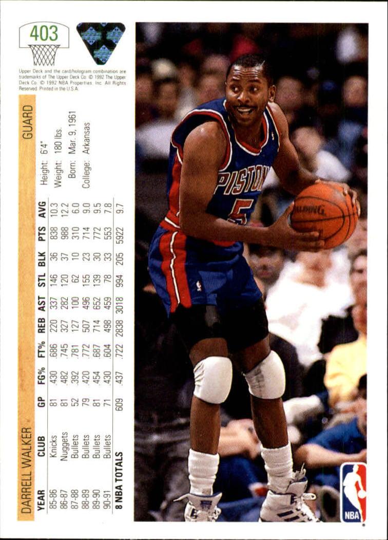 thumbnail 305 - 1991-92 Upper Deck Basketball Card Pick 251-500