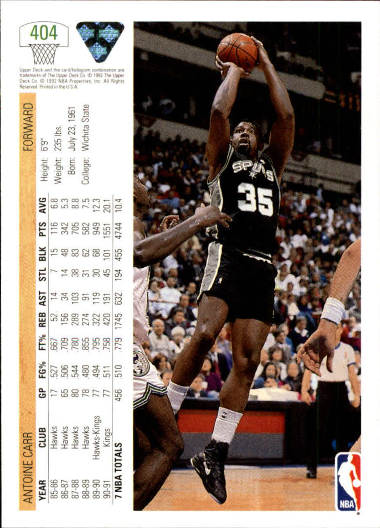 thumbnail 307 - 1991-92 Upper Deck Bk Cards 251-500 +Rookies A2500 - You Pick - 10+ FREE SHIP