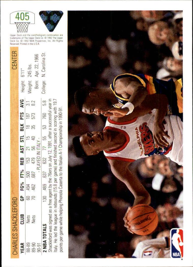 thumbnail 309 - 1991-92 Upper Deck Basketball Card Pick 251-500