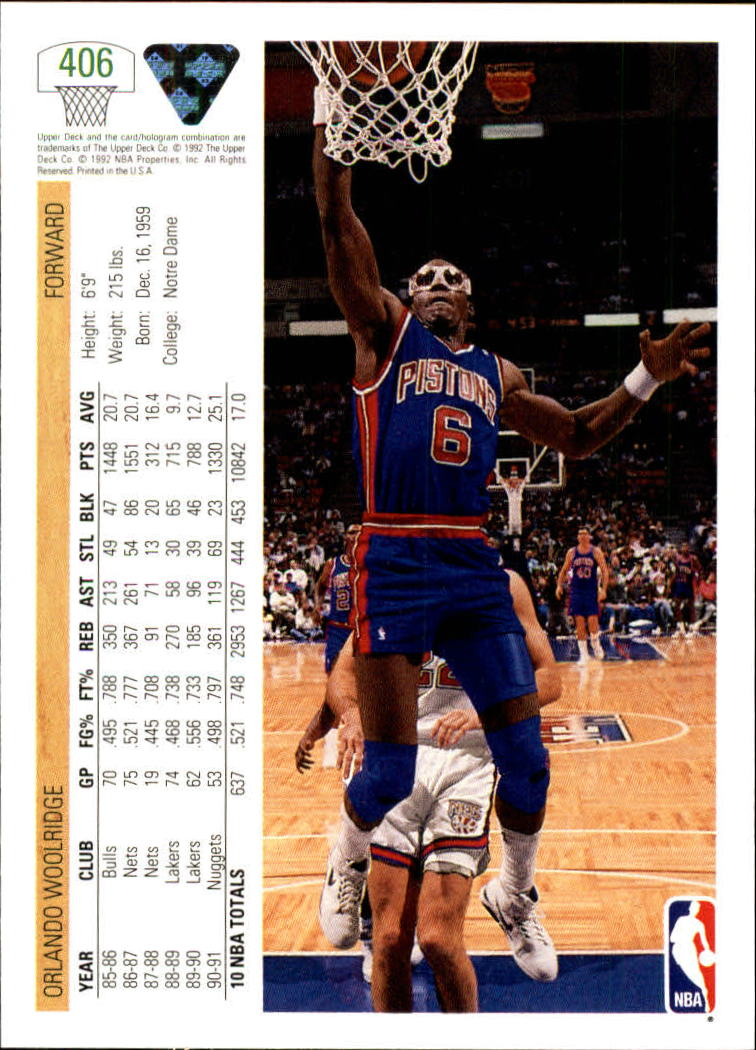 thumbnail 309 - 1991-92 Upper Deck Bk Cards 251-500 +Rookies A2500 - You Pick - 10+ FREE SHIP