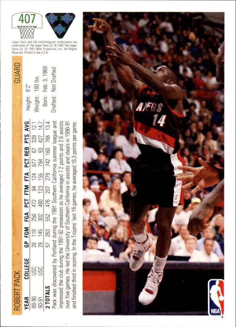 thumbnail 313 - 1991-92 Upper Deck Basketball Card Pick 251-500