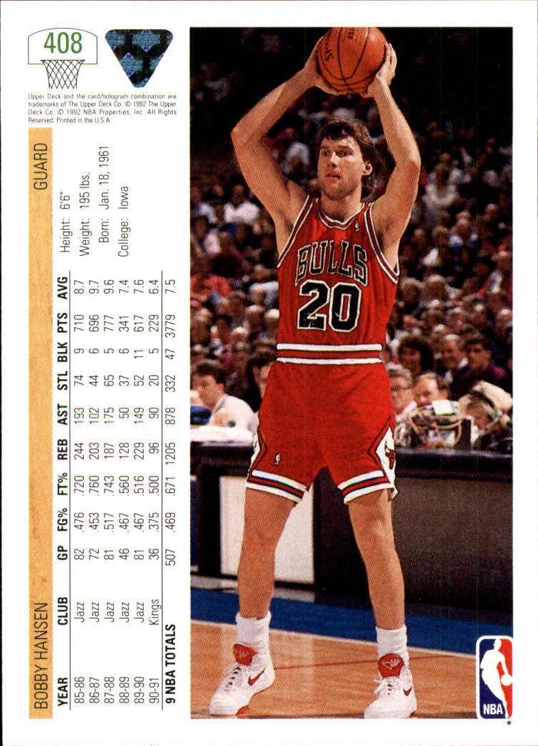 thumbnail 315 - 1991-92 Upper Deck Basketball Card Pick 251-500