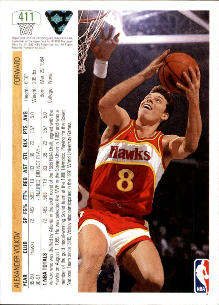 thumbnail 315 - 1991-92 Upper Deck Bk Cards 251-500 +Rookies A2500 - You Pick - 10+ FREE SHIP
