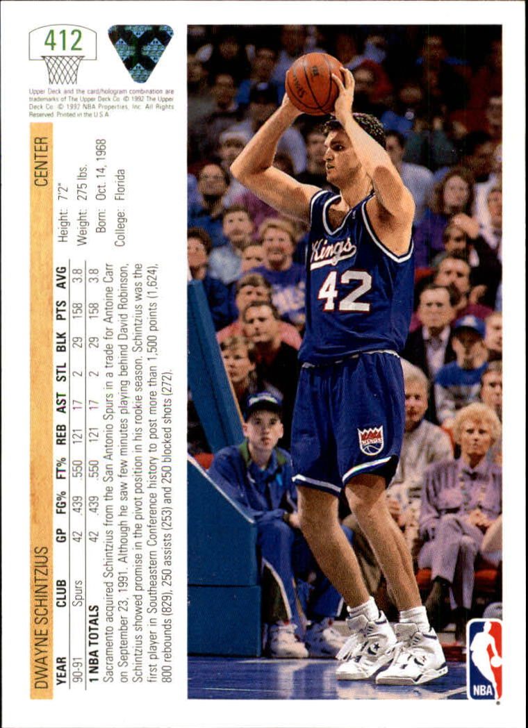 thumbnail 317 - 1991-92 Upper Deck Bk Cards 251-500 +Rookies A2500 - You Pick - 10+ FREE SHIP