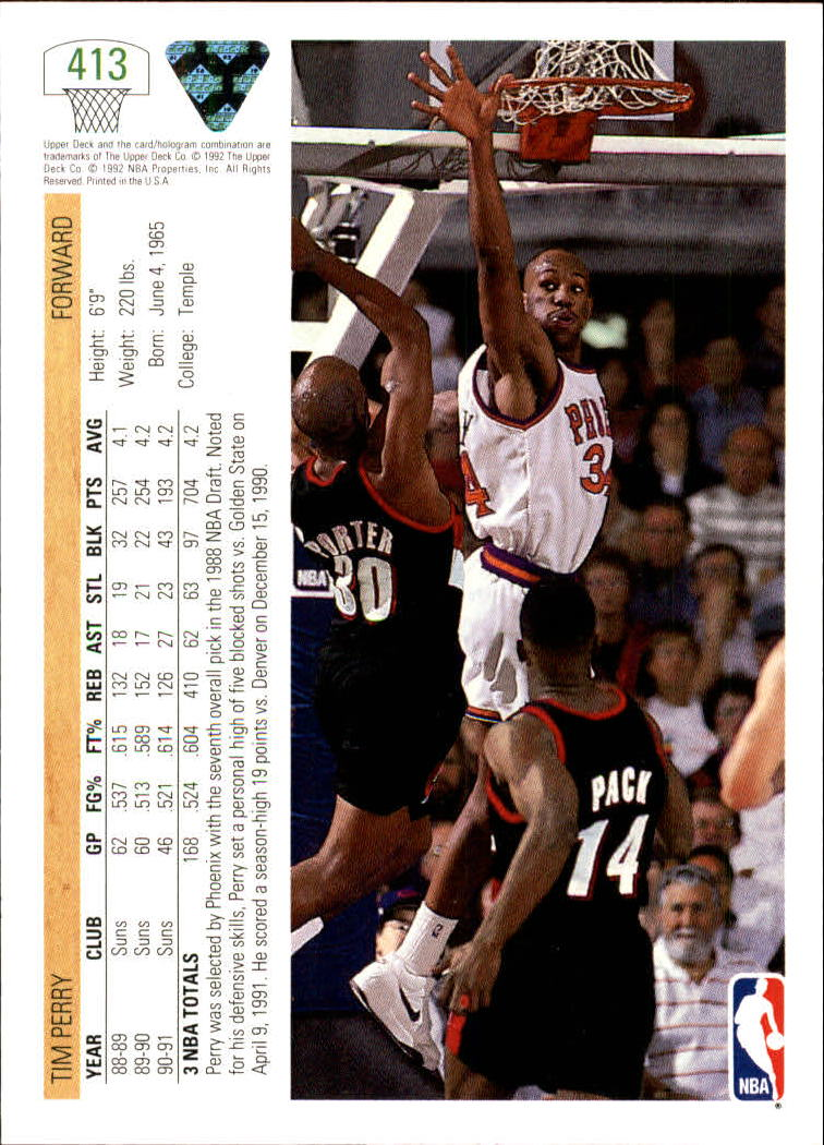 thumbnail 319 - 1991-92 Upper Deck Bk Cards 251-500 +Rookies A2500 - You Pick - 10+ FREE SHIP