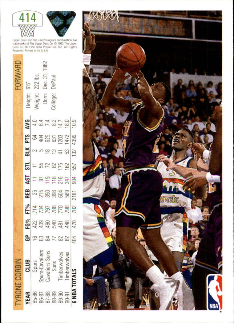 thumbnail 321 - 1991-92 Upper Deck Bk Cards 251-500 +Rookies A2500 - You Pick - 10+ FREE SHIP