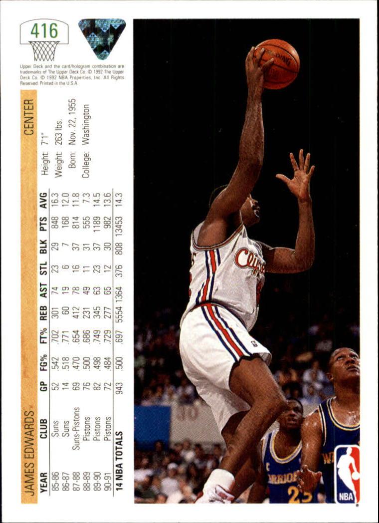 thumbnail 331 - 1991-92 Upper Deck Basketball Card Pick 251-500