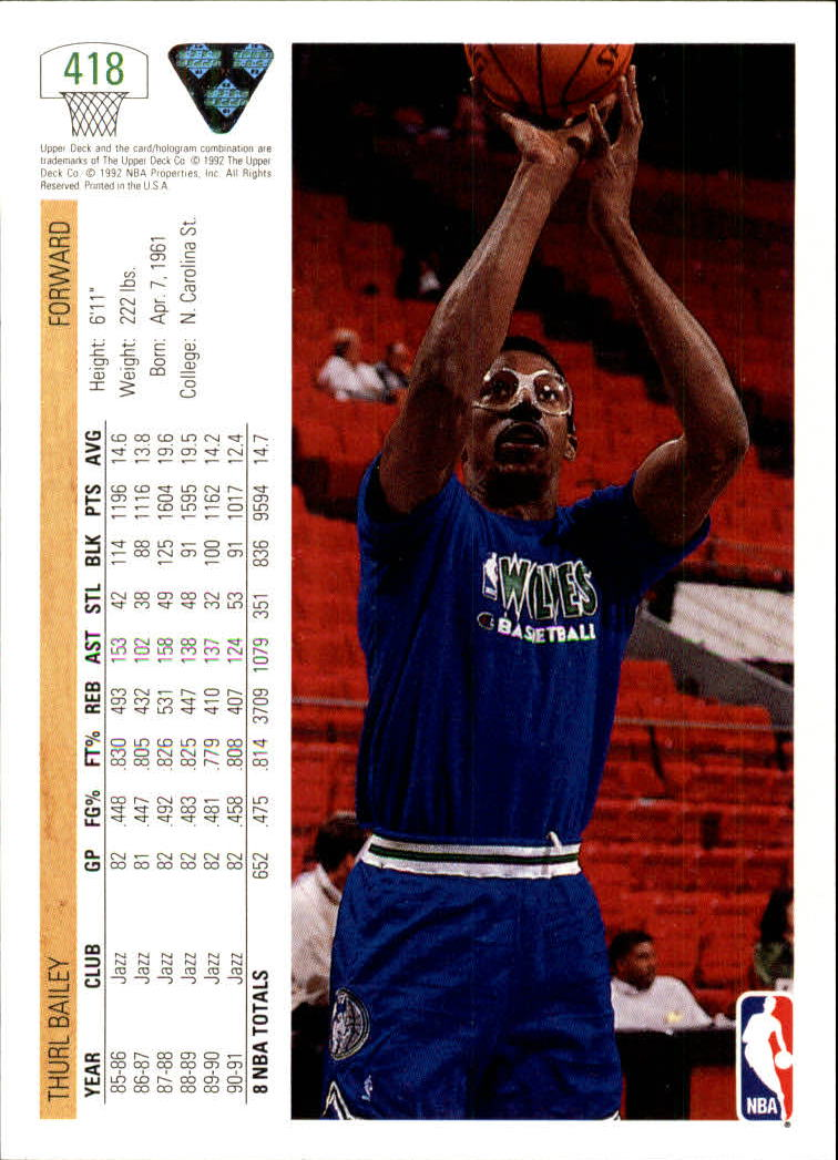 thumbnail 327 - 1991-92 Upper Deck Bk Cards 251-500 +Rookies A2500 - You Pick - 10+ FREE SHIP