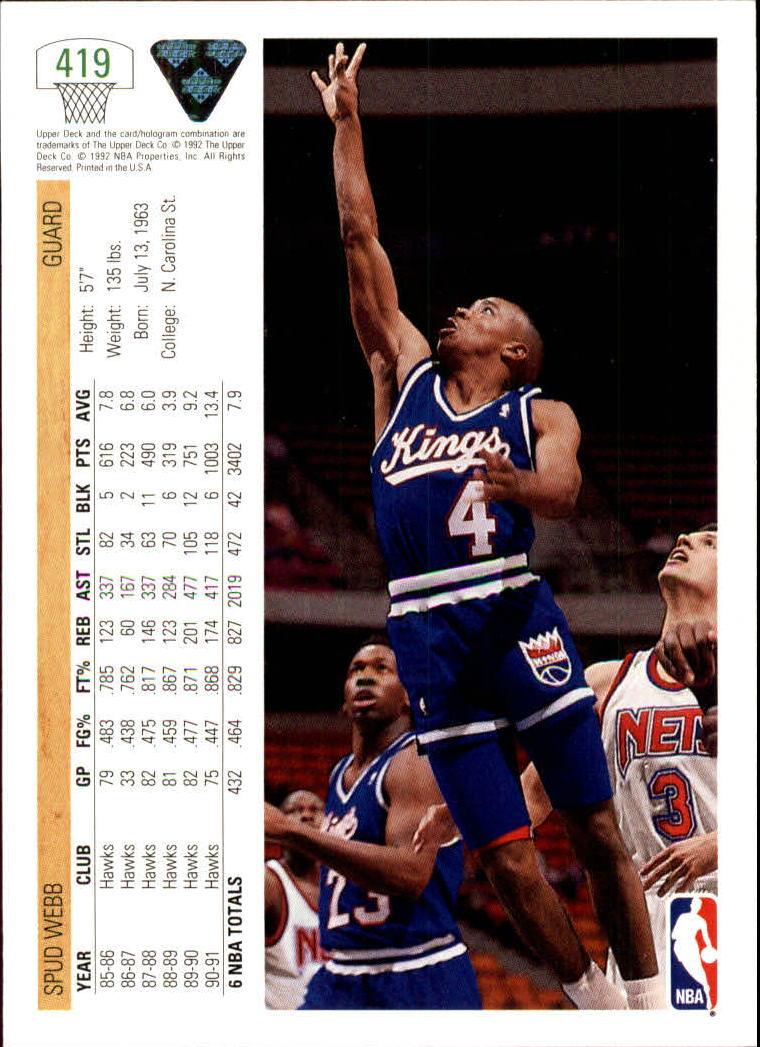 thumbnail 337 - 1991-92 Upper Deck Basketball Card Pick 251-500